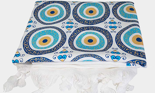 Ebsem Turkish Cotton Bamboo (Evil Eye Glitter Pattern)